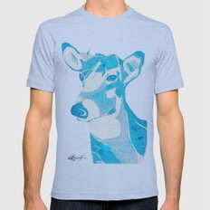 Deerest Blue Mens Fitted Tee Athletic Blue SMALL