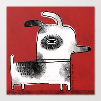 DOG SQUARE Canvas Print