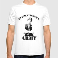 Jo Polniaczek's Army Mens Fitted Tee White SMALL