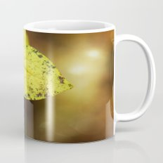 yellow leaves. Mug