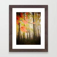 Autumn Fire Framed Art Print