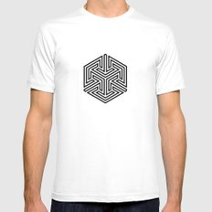 5050 No.2 SMALL White Mens Fitted Tee