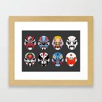Pekin Masks Opera Framed Art Print