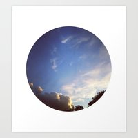 Telescope 1 sky planet Art Print