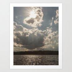 afternoon at lake Art Print