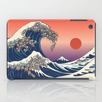 The Great Wave of Sloth iPad Case