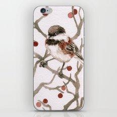 Chickadee & Berries iPhone & iPod Skin
