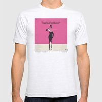 No204 My Breakfast at Tiffanys minimal movie poster Mens Fitted Tee Ash Grey SMALL