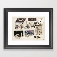 Science Laboratory On St… Framed Art Print