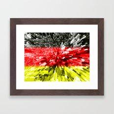 Germany Flag - Extrude Framed Art Print