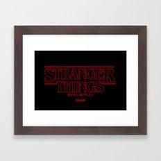 Pixel Stranger things Framed Art Print