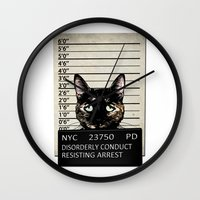 Kitty Mugshot Wall Clock