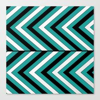 Pattern Turquoise 1 Canvas Print