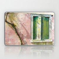 Old green window Laptop & iPad Skin