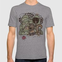 Happy Squirrel Mens Fitted Tee Athletic Grey SMALL