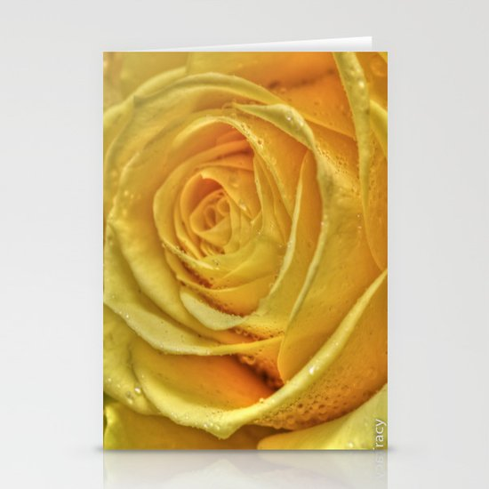 Gold Rose Stationery Card
