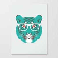 Bookish Big Cat Canvas Print
