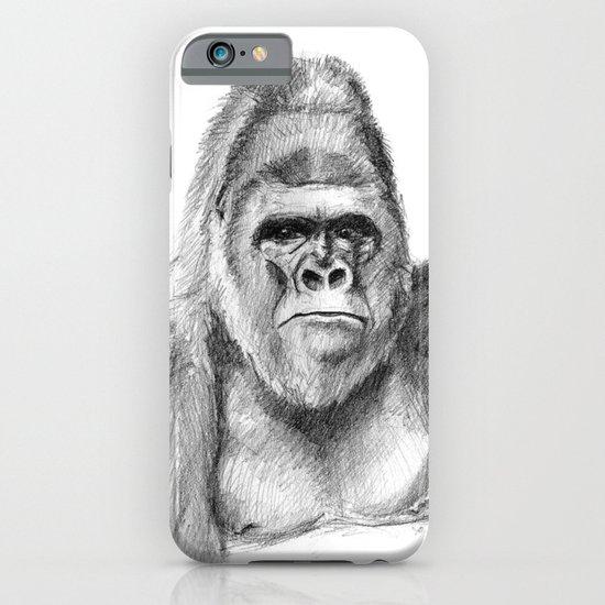 Gorilla male sketch SK020 iPhone & iPod Case
