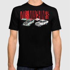 70's Machines Black SMALL Mens Fitted Tee