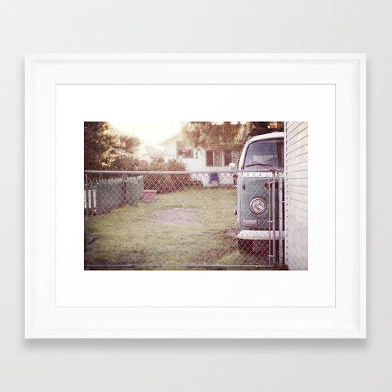 staying home Framed Art Print