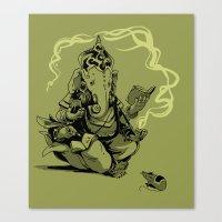 Nerdy Ganesha Canvas Print