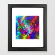 Neon Wolf Framed Art Print