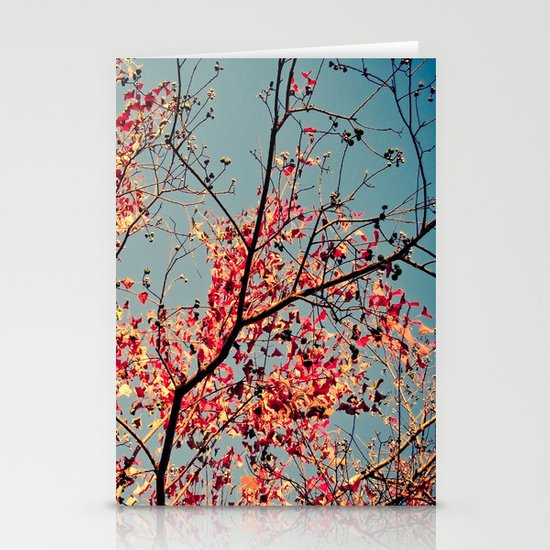 Autumn Branch & Leaves Stationery Card