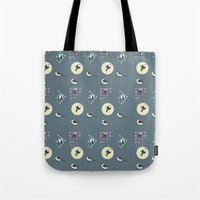 Birds And Dots Tote Bag