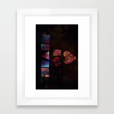 HEART OF PIECES Framed Art Print