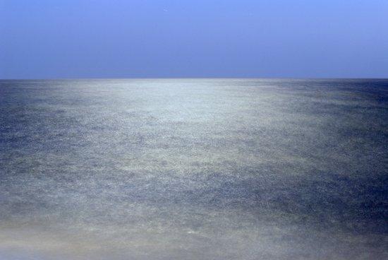 Moonlight at the sea Art Print