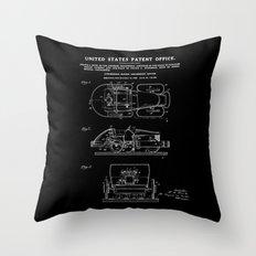 Automobile Amusement Ride - Black Throw Pillow