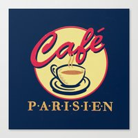 cafe Parisien Canvas Print