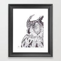 Horned Owl Framed Art Print