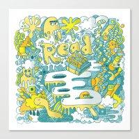 READ BOOKS LITTLE MONSTERS Canvas Print