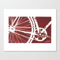 Dark Red Bike Canvas Print