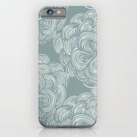 Clouds - Smoky Teal iPhone 6 Slim Case