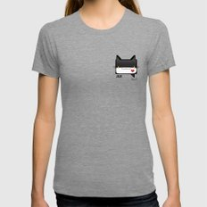 Convo Cats! Jiji Womens Fitted Tee Tri-Grey SMALL