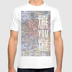study the past Mens Fitted Tee SMALL White