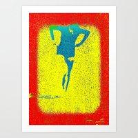Woman Emerging (i) Art Print