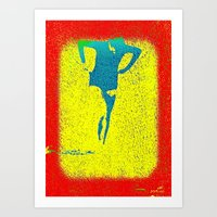 Woman Emerging (i) Art Print