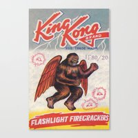 King Kong - Firecrackers Canvas Print