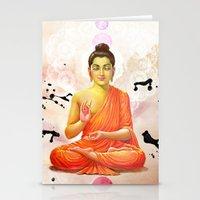 buddha Stationery Cards featuring Buddha by Olga Whass