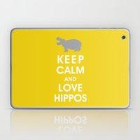 Keep Calm and Love Hippos Laptop & iPad Skin
