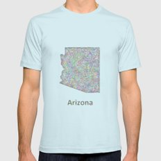 Arizona map Mens Fitted Tee Light Blue SMALL