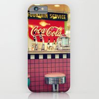iPhone & iPod Case featuring retro diner by Sylvia Cook Photography