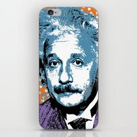 Blue Einstein iPhone & iPod Skin