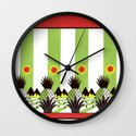Pineapple Fields Forever Wall Clock