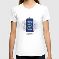 tardis - doctor who Womens Fitted Tee White SMALL