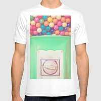 Happy Bubblegum Mens Fitted Tee White SMALL