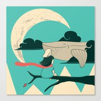 Did You See The Whale In… Canvas Print
